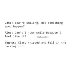 "Gefällt 784 Mal, 6 Kommentare - SHADOWHUNTERS ➰ (@shadowhunters.1) auf Instagram: ""hahahaha Alec is me ➰ Credit to its owner. #themortalinstruments #tmi #cassandraclare…"""