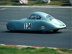 The streamlined VW Typ 60 K 10 aka Porsche Typ 64 built by Ferdinand Porsche in 1939 for a long distance race from Berlin to Rome