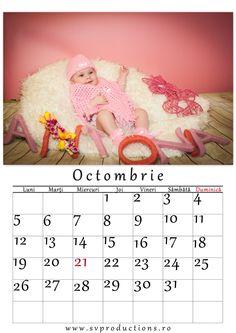 Calendar luna Octombrie cu tema Antonia, Happy birthday!