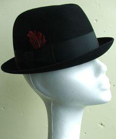 5171231af71 Vintage 60s Black Stetson Rat Pack Style Stingy Brim Fedora Hat 7 This  great vintage fedora