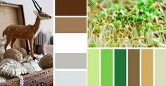 Коричневый с серым и зеленым