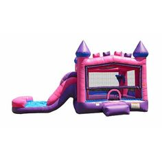 Bounce House With Slide, House Slide, Barbie Birthday, Barbie Party, Dinosaur Party, Unicorn Party, Princess Bounce House, Moon Bounce, Mermaid Pool