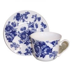Reminiscent of the turn of the century, this Blue Victorian tea-cup and saucer would fit perfectly into Aunt Hetty's kitchen. This set is ideal for cold winter nights, where all you want is a hot cup of Earl Grey and a good book. $24.99
