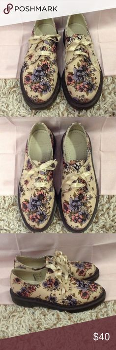 Floral Dr Martens Oxfords IN EUC minor marks on shoes but hard to notice NO TRADE NO PAYPAL Dr. Martens Shoes