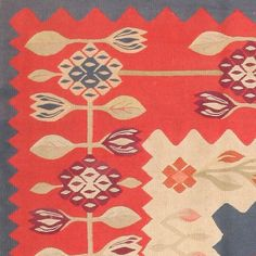 View this item and discover similar for sale at - This delightful antique Bessarabian kilim has an original, distinctive style with whimsical folk-art influences that are combined with formal compositional Weaving Patterns, Rugs On Carpet, Carpets, Repeating Patterns, Floor Rugs, Soft Furnishings, Kilim Rugs, Hand Embroidery, Folk Art