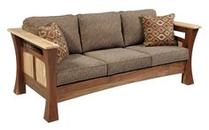 Amish Shaker Gateway Sofa The Amish Shaker Gateway Sofa offers the strength and elegance of shaker style furniture. Choose your favorite wood type and add throw pillows in your favorite colors. Shaker Style Furniture, Furniture Styles, Cool Furniture, Furniture Sets, Furniture Design, Furniture Removal, Urban Furniture, Furniture Outlet, Discount Furniture