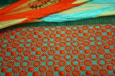 This hot color combination is a fantastic way of modernizing the older overshot patterns!