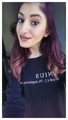 #hairstyle #makeup #ombrelips #lipstick #purplehair #everydaymakeup
