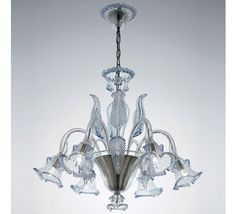 Decorative Pair of Brass and Murano Glass Lamps in the Style of La ...