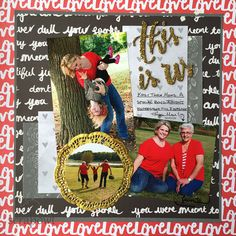 Scrap Owl | This Is Us | Mom & Me Scrapbook Layout