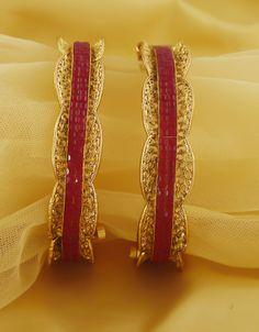 Anuradha Art Rose-Gold Finish Triangular Shape Party Wear Fancy Hand Bracelet//Kada for Women//Girls