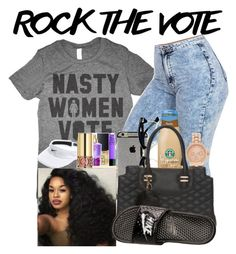 """""""rock the vote"""" by eilojee ❤ liked on Polyvore featuring Topman, NIKE and Forever 21"""