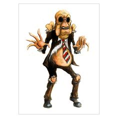 Lord Crumb - Doppelganger Print By Alex Pardee.