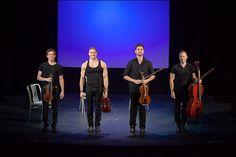 Well-Strung: The Singing String Quartet - Edmund Bagnell, Christopher Marchant, Daniel Shevlin, and Trevor Wadleigh - See more: http://www.playbill.com/multimedia/gallery/4985/Well-Strung-The-Singing-String-Quartet-Begins-Off-Broadway-Run