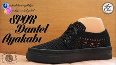 Sport Lace schoenen - picture for you Crochet Shoes, Crochet Slippers, Mens Shoes Boots, Men's Shoes, Shoes With Jeans, Crochet Videos, Sport, High Heels, Slip On