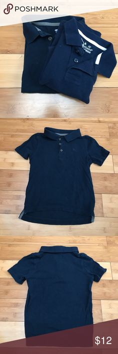 TWO Navy Blue Boys Polo Shirts - 4T Two Navy Boys' collared shirts. Both size 4T. One Jumping Beans, one Old Navy. Very good condition, perfect for school uniforms! Shirts & Tops Polos