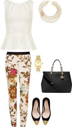 Wear A Peplum To Perfect A Pretty, Polished Office Ensemble | Casual Office or #FridayCasual