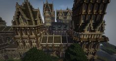 Awesome Minecraft Castle Build 04 Minecraft Castle, Minecraft Stuff, Minecraft Wallpaper, Amazing Minecraft, Minecraft Creations, Big Ben, Medieval, Video Games, Landscapes