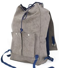 waxed canvas backpack--Whitney wants to make one of these so bad.