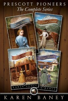 Prescott Pioneers: The Complete Series (4 books in 1) by Karen Baney, http://www.amazon.com/dp/B0089R3RNS/ref=cm_sw_r_pi_dp_ITyGqb127HDYT