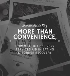 Meal kit delivery services, like Goodfood, pride themselves on the delivery of fresh ingredients. Better than that, these delivery services serve as an aid to eating disorder recovery, making food fun, accessible and less threatening. Making Food, Food To Make, Eating Schedule, Weird Words, Eating Disorder Recovery, Recipe Cards, Meals For One, No Cook Meals, Disorders