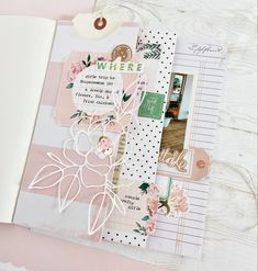Mini Scrapbook Albums, Mini Albums, Storyline Ideas, Baby Girl Cards, Heidi Swapp, Flower Center, Notebook Design, Planner Organization, American Crafts