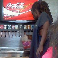 Meanwhile @ mc Donald's! Ooooooo I get it he does this so he doesn't need 2 get up 4 refills! :O lol