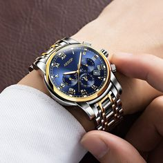 84.99$  Buy here - http://alin7q.shopchina.info/1/go.php?t=32694098840 - AESOP 9002 Switzerland watches men luxury brand automatic mechanical daydate month Moon phases blue relogio masculino 84.99$ #SHOPPING
