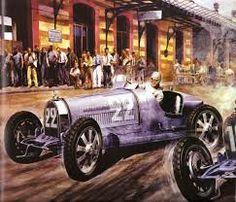 Carlos Demand Painting of the 1930 Monaco Grand Prix Monaco Grand Prix, Checkered Flag, Vintage Race Car, Car Drawings, Car Painting, Line Drawing, Bugatti, Club, Race Cars