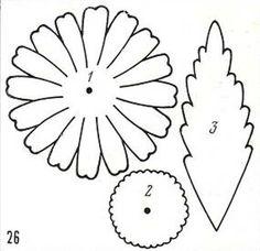 ромашка из ткани рисунок 26