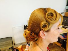Styling for mother of the bride Hair Lipstick & Curls