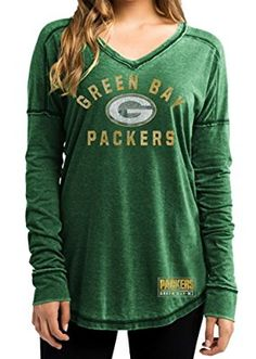 Amazon.com   Ladies Green Bay Packers Green Heather Victory Play Long  Sleeve T Shirt (Large)   Sports   Outdoors 67c6667b0