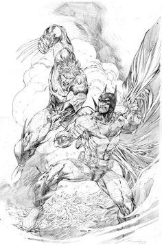 The Wolverine Vs The Batman artwork