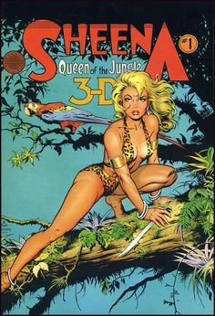 Sheena Queen of the Jungle 1 (1988). Cover by Dave Stevens.