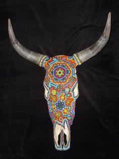 Huichol bead sculpture