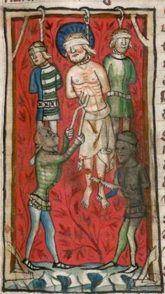 Jacobus : Legenda sanctorum aurea, verdeutscht in elsässischer Mundart [u.a.] 1362  Cgm 6 Folio 210