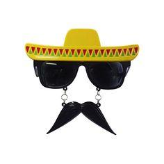 Snorbril Mexico. Een grappige snorbril met een mini sombrero erboven. Materiaal: plastic. Geschikt voor volwassenen.