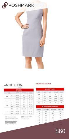 Anne Klein Womens Keyhole Sheath Dress Greystone Style: Sheath | Dress Length: Knee-Length | Material: Polyester | Zipper: Side Zipper Anne Klein Dresses