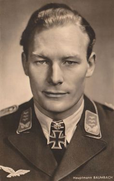 Werner Baumbach (27 December 1916 – 20 October 1953) was a bomber pilot in the German Luftwaffe during World War II. In 1942, he started working on new bomber designs where he helped design the composite bomber system Mistel. In 1944 he commanded the newly formed Kampfgeschwader 200 (KG 200) and was in charge of all Luftwaffe special missions. He received the Knight's Cross of the Iron Cross with Oak Leaves and Swords for the destruction of over 300,000 gross register tons of allied…