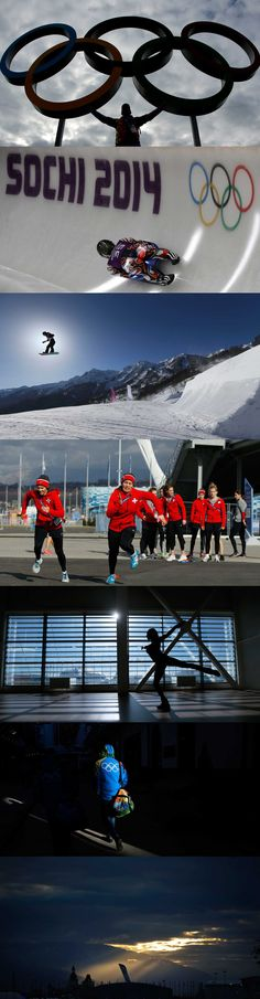 Athletes from all over the world prepare to compete at the Sochi Winter Olympics.