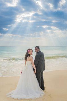 Hawaii Weddings Angel's Bay beach pose