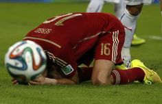 Partida entre Espanha e Chile #Brasil2014