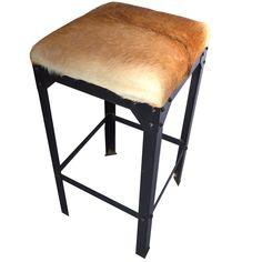 barstol svart skinn