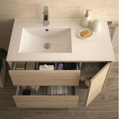 Interior mueble NOJA Girl Bathrooms, Upstairs Bathrooms, Best Bathroom Designs, Bathroom Interior Design, Floating Bathroom Vanities, Small Bathroom, Bad Inspiration, Bathroom Inspiration, Wc Design