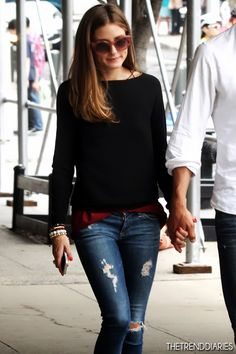Olivia Palermo and Johannes Huebl out in New York City, New York - June 17, 2013 | The Trend Diaries