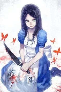Browse more than 187 Alice: Madness Returns pictures which was collected by GOD, and make your own Anime album. Alice Liddell, Dark Alice In Wonderland, Adventures In Wonderland, Alice Madness Returns, Yandere Anime, Goth Art, Anime Art Girl, Cartoon Styles, Fantasy Art