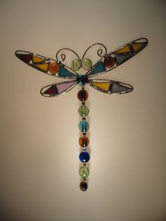 Stained Glass Dragonfly, Dragonfly Suncatcher. $25.00, via Etsy.
