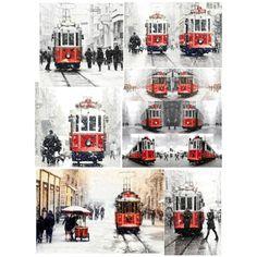 """Red Tram"" by gonulk on Polyvore   #tram #redtram #art #wallartprint  #walldecor  #homedecor  #decor #istanbul #winter #snow #christmas #art #photography #street #red  #homedecor #decorating #print #urban #streetphotography #etsy"