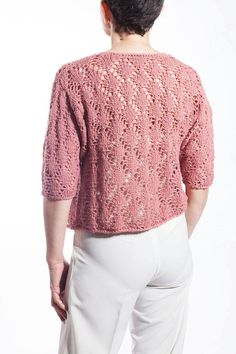Items similar to Elegant Fretted Pink Blouse/hand knitted on Etsy Line Shopping, Fasion, Hand Knitting, Knit Crochet, Pullover, Elegant, Trending Outfits, Blouse, Sweaters