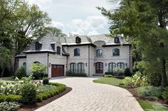 Curved Paver Driveway